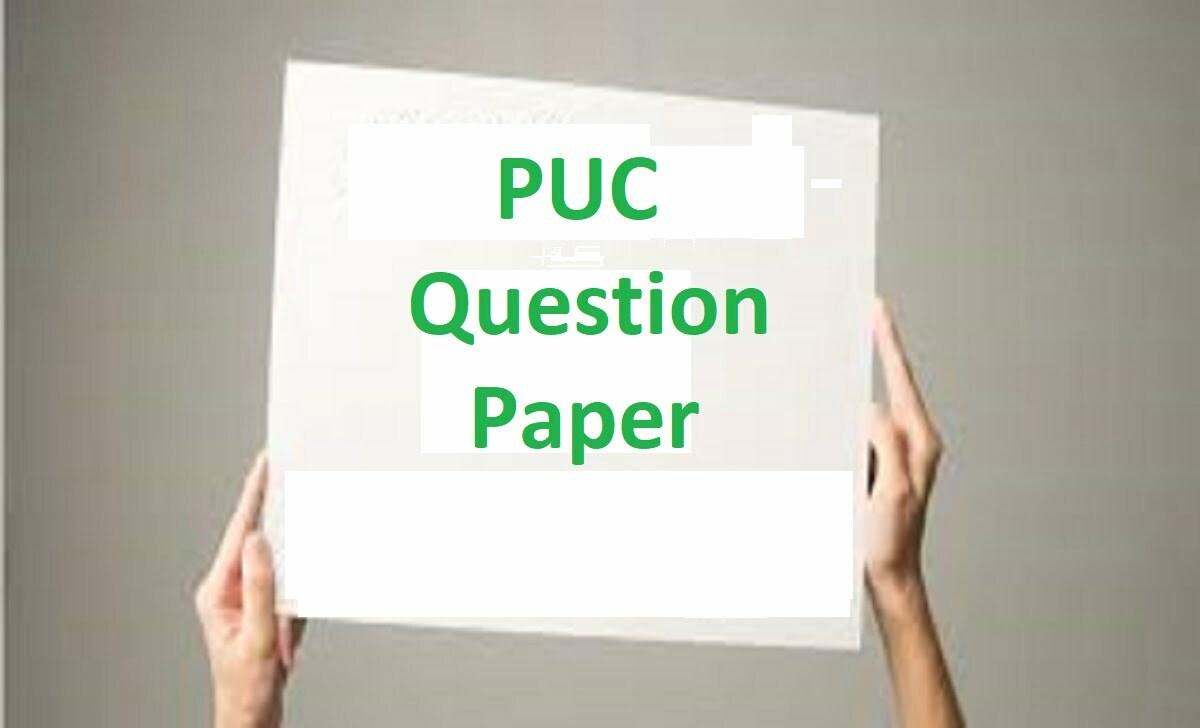 1st PUC Question Paper 2021 KAR 11th / PUC Model Paper 2021